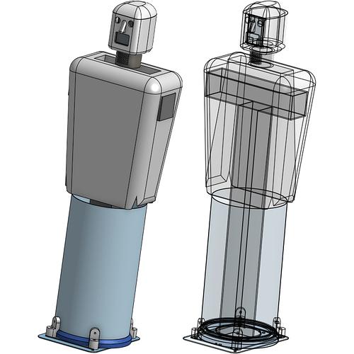 Spud ~ full torso ~ transparent to show skeleton ~ 1